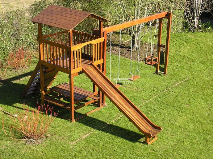 Armont maderas juegos infantiles en madera trepadoras for Juegos para jardin nios