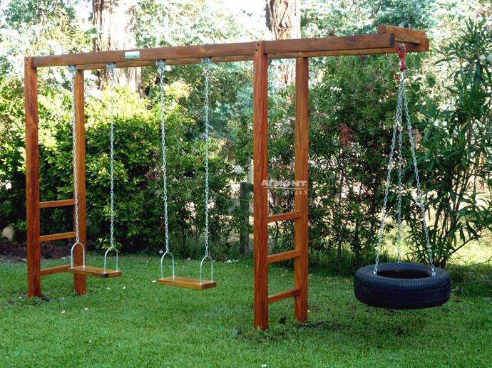 Hamacas de madera imagui for Juegos de jardin rusticos